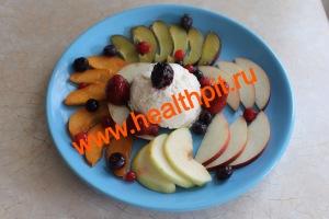 Фрутово-творожный салат