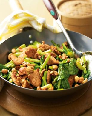 Курица чили с овощами