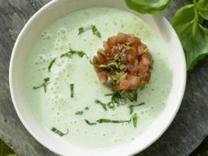 Холодный суп с морской капустой