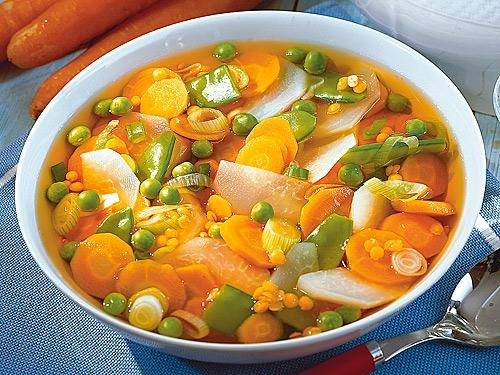 Овощной суп с бобовыми