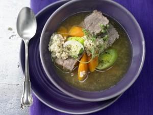 Рисовый суп с овощами