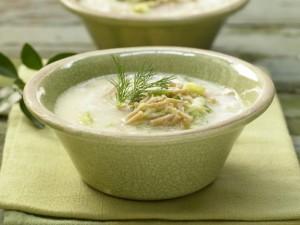 Холодный суп с макаронами