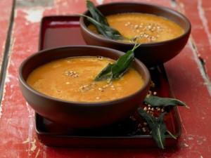Гречневый суп с тыквой и розмарином