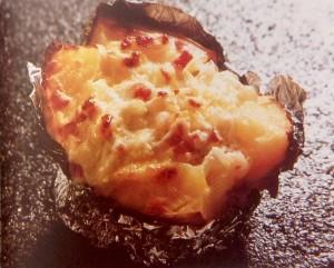 картофель запеченный с салом и луком