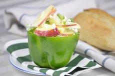 Яблочный салат с творожным сыром