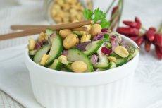 Огурцовой салат чили с арахисом