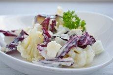 Цветная капуста с итальянским цикорием под белым соусом