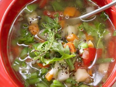 Быстрый суп минестроне