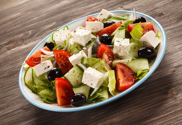 Быстрый греческий салат